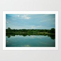 Lake Reflections. Art Print