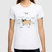 Anatomy of a Pug Womens Fitted Tee Ash Grey SMALL