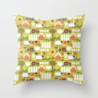 Let's Farm! Throw Pillow