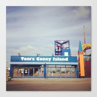 Tom's Coney Island Canvas Print