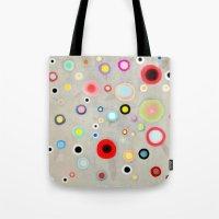Abstract Happy Circles Tote Bag