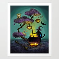 halloween Art Prints featuring Halloween by Anna Shell
