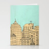 City scape Stationery Cards