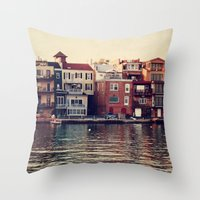 the lake. Throw Pillow