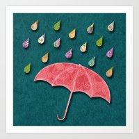 It's Raining, It's Pouri… Art Print