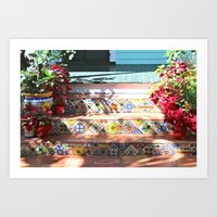 Colorful Steps Art Print