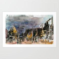 Dusk with Theresa Art Print
