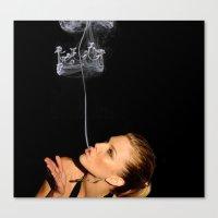 Smoke Crown Canvas Print