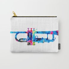 Colorful Trumpet 2 Art By Sharon Cummings Carry-All Pouch