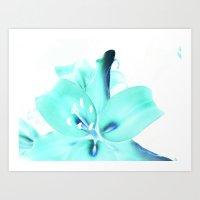 Neon Petals Art Print