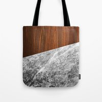 Wooden Marble Tote Bag
