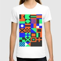 Nautical Alphabet Inverted CMYK Womens Fitted Tee White SMALL