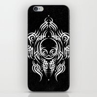 Alien Tribal Tattoo - Wh… iPhone & iPod Skin