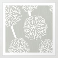 Pom Poms In Grey By Friz… Art Print