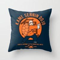 Kame Dojo Throw Pillow
