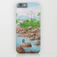 iPhone & iPod Case featuring A Day of Forest(7). (the river ecosystem) by Amy Fan