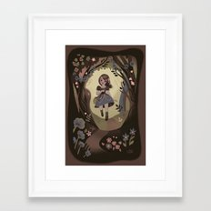 Following Flowers Framed Art Print