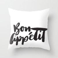 Bon Appétit Throw Pillow