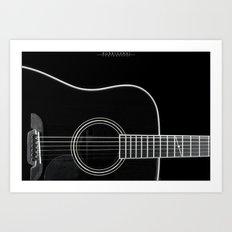 Guitar BW Art Print