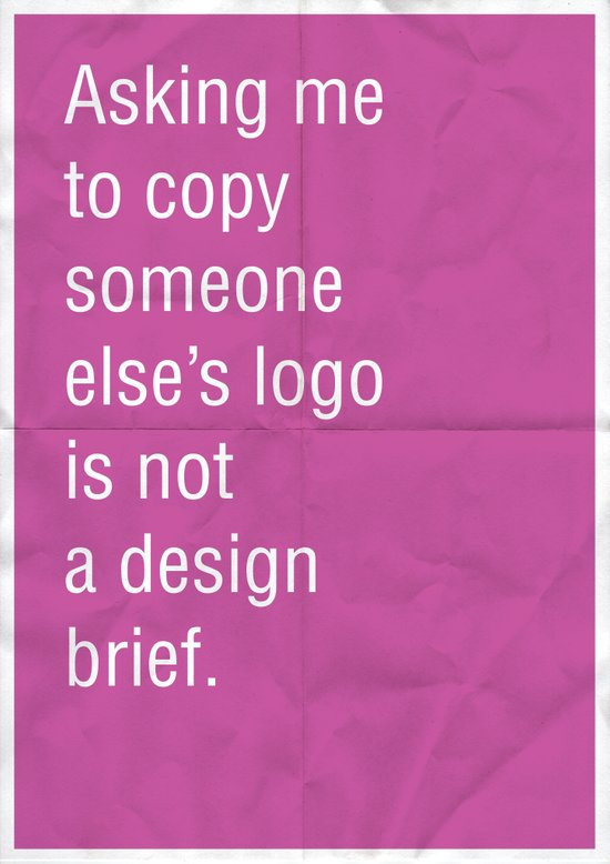 Asking me to copy someone else's logo is not a design brief. Art Print