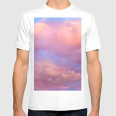 See the Dawn (Dawn Clouds Abstract) SMALL White Mens Fitted Tee
