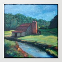Sugar Grove Barn Canvas Print
