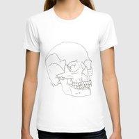 Vamp Skull Womens Fitted Tee White SMALL