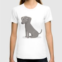 Weimaraner - Cute Dog Se… Womens Fitted Tee White SMALL