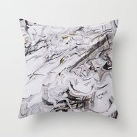 Chic Marble Throw Pillow