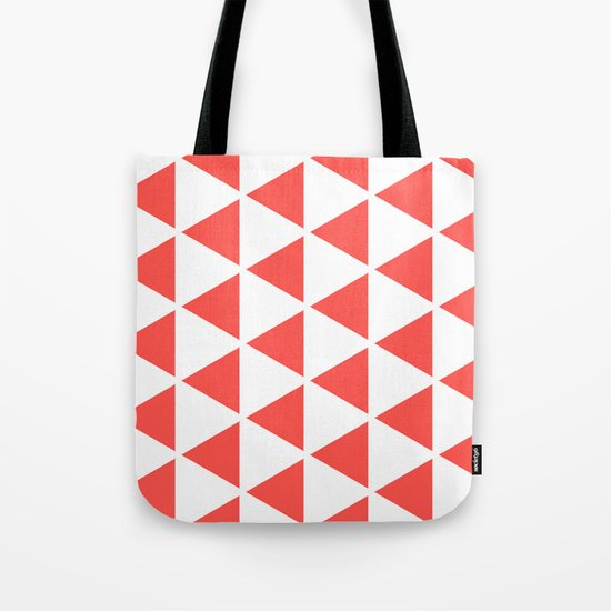 Sleyer Pink on White Pattern Tote Bag
