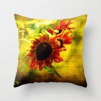 Sunflowers Lament Throw Pillow