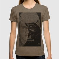 circlefaces Womens Fitted Tee Tri-Coffee SMALL