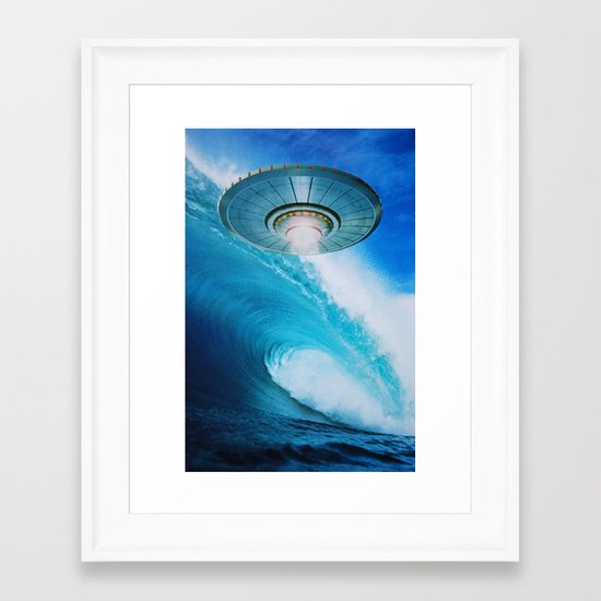 UFO Framed Art Print