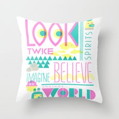 Look Twice Throw Pillow