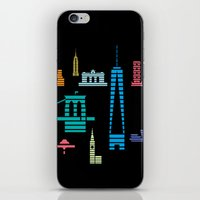 New York Skyline Black iPhone & iPod Skin