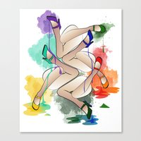 Legs In Colours Canvas Print
