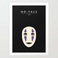 No-Face (Spirited Away) Art Print