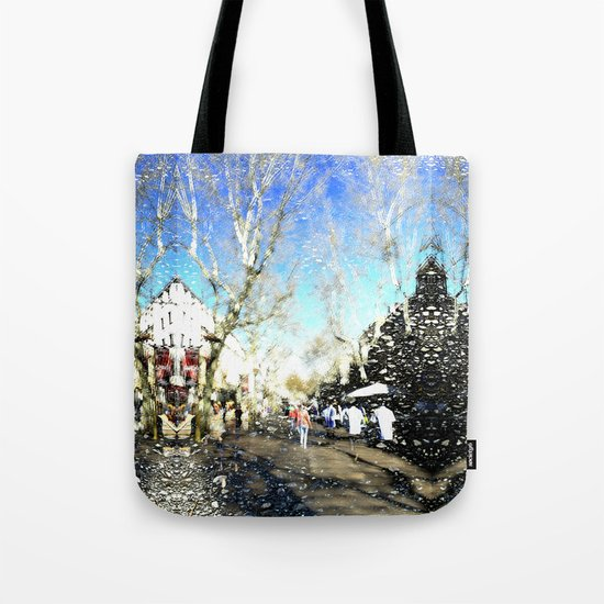Unroll strong storm dynamism. Tote Bag
