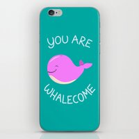 Whale, Thank You! -Pink … iPhone & iPod Skin