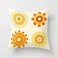 Sunburst: Yellow Throw Pillow