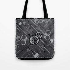 Locks & Chains Scarf Print Tote Bag