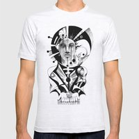 Pencil Sketch Mens Fitted Tee Ash Grey SMALL