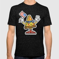 Pizza Party Mens Fitted Tee Tri-Black SMALL