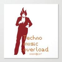 Techno Music Overload Canvas Print