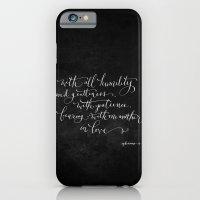 Bearing in Love // White on Black iPhone 6 Slim Case