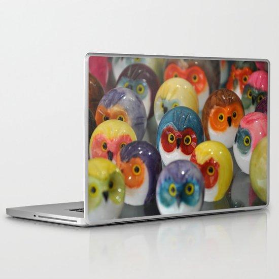 Alabaster Owls Laptop & iPad Skin