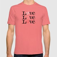 Love Love Love Mens Fitted Tee Pomegranate SMALL