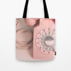 vintage PHONE pink Tote Bag