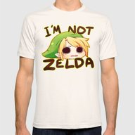 Link Is Not Zelda Mens Fitted Tee Natural SMALL