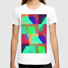 Colorful Truth. Green. Womens Fitted Tee White SMALL